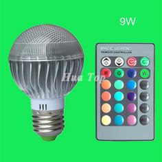 5Pcs RGB Dimmable 9W 18W lampadas Remote Contol 15 color LED Bulb E27 Wide voltage 85-265V night spotlight Christmas magic lamps #Affiliate