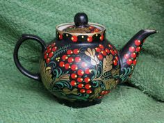 Russian folk art teapot