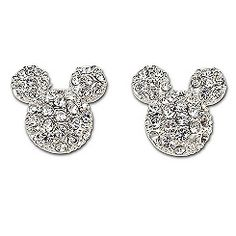 Pavé Crystal Mickey Mouse Earrings by Disney Couture