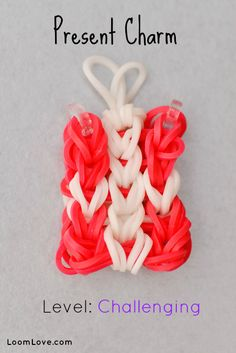 How to Make a Present Rainbow Loom Charm