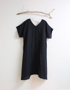 d0ba80a3b4 black linen dress by annyschooecoclothing. linen clothing by anny