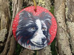 Custom dog portrait. Pet Portrait from photo. Small Dog painting. Dog Ornament for Christmas. dog mom. summer gift. Pet painting on ornament