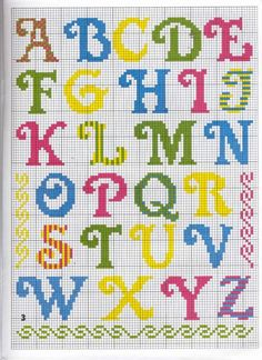 Pin on Cross stitch Cross Stitch Letter Patterns, Cross Stitch Letters, Cross Stitch Borders, Cross Stitch Baby, Cross Stitch Designs, Cross Stitching, Cross Stitch Embroidery, Embroidery Patterns, Stitch Patterns