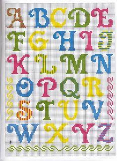 alfabeto colorato stampatello maiuscolo