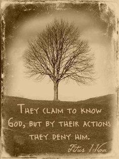 Titus 1:16a