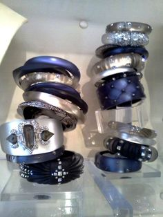 Sea Blue accented bangle stack for Fall 12!
