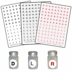 Sold 10 sheets per pack, for a total of 540 pairs. Removable, repositionable round stickers with a pre-printed R or L help ensure the correct power is inserted in the correct eye. Lab Supplies, Office Supplies, Contact Lens, Optometry, Personalized Products, Round Stickers, Labs, Cl, Packing