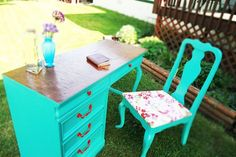 Finally done! Turquoise is the new pink! mindy-s-diy-extravaganza