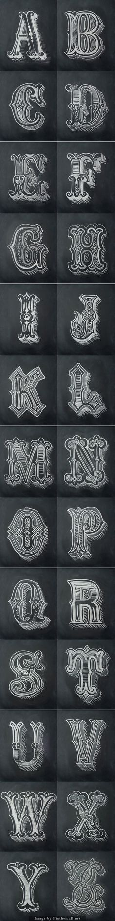 Chalk Alphabet by Antonio Rodrigues Jr... - a grouped images picture - Pin Them All: