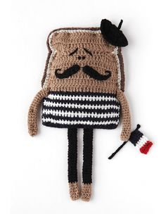 Super cool French Toast - Crochet Art by Kate Jenkins