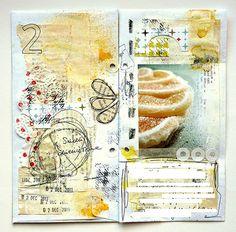 art journal pages by mumkaa / Magda Bolinska Art Journal Pages, Journal D'art, Art Journals, Kunstjournal Inspiration, Sketchbook Inspiration, Art Sketchbook, Moleskine, Mixed Media Collage, Collage Art