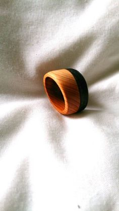 Yew and bog oak ring Wooden Jewelry, Chainsaw, Napkin Rings, Boards, Carving, Artists, Jewellery, Inspiration, Home Decor