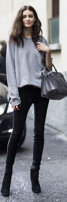 Grey Oversize Basic Sweatshirt by A Love Is Blind