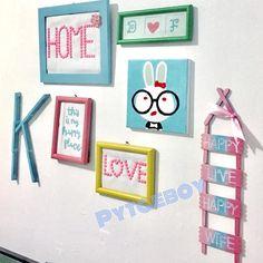 Popsicle Stick Crafts, Craft Stick Crafts, Diy And Crafts, Crafts For Kids, Diy Room Decor, Bedroom Decor, Home Decor, Bedroom Hacks, String Art