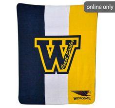 afl-team-logo-polar-fleece-printed-throw-west-coast-eagles West Coast Eagles, Quilt Cover Sets, Polar Fleece, Team Logo, Printed, Logos, Duvet Cover Sets, A Logo, Logo