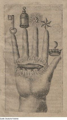 Hand of the Mysteries Also known as The Hand of the Philosopher, or The Hand of the Master Mason, it holds in signs and symbols the secrets of the Art Alchemia and nobody can understand this hand, unless he becomes first a juror of the philosophers. It is covered with alchemical and allegorical symbols and icons that each carry their own meaning. Each symbol is a key to a higher truth, reading these symbols would help the Alchimist/Philosopher to find the Philosopher's Stone. Understandi...