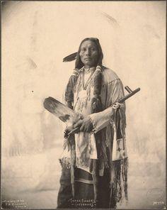Three Fingers, a Cheyenne man.  Photo by F.A. Rinehart, 1898.