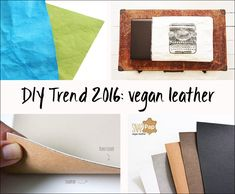 DIY Trend 2016: veganes Leder... Materialvorstellung und Review