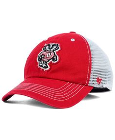 47 Brand Wisconsin Badgers Tayor Closer Cap Touca 1e437d08858