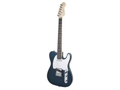 """Retro Vision"" Solid Body Electric Guitar - Metallic Blue - Monoprice.com"