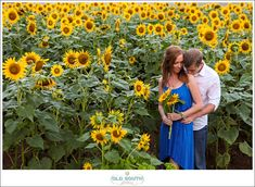 Sunflower Engagement Photo Session Charlotte, NC Old South Studios