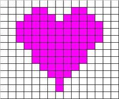 Con Punto de cruz: Corazón para San Valentín en punto de cruz