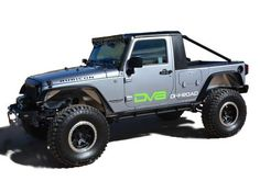 DV8 Truck Conversion By: Thaler Design The DV8 Truck Conversion Changes a 4 door Unlimited JK into a 2 Door Truck. All parts necessary to make the conversion are included in the kit including: - Truck