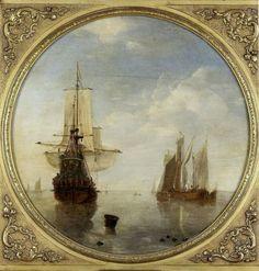 Корабли в живописи -- Виллем ван де Вельде младший