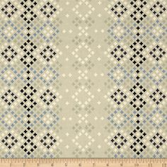 Cotton & Steel Bluebird Winter Sweater Grey from @fabricdotcom  Designed by Melody Miller for Cotton + Steel, this cotton print is perfect for quilting, apparel and home decor accents. Colors include grey, blue, navy blue, mint and ivory.