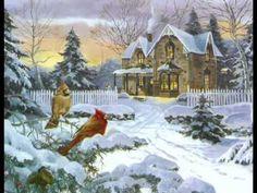 Winter cardinals - Fantasy & Abstract Background Wallpapers on . Cardinals, Abstract Backgrounds, Home Art, Birds, Fantasy, Winter, Artwork, Nature, Beautiful