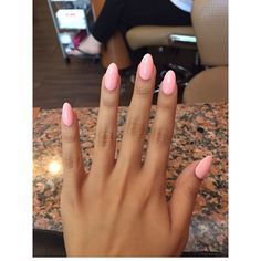 Pretty almond shaped nails