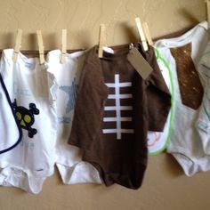 love the football onesy! Baby Shower Activity