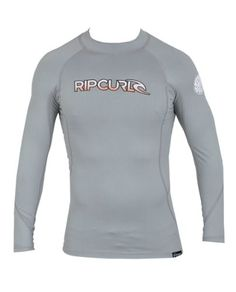 Rip Curl Corp Long Sleeve Rash Guard Shirt Small Grey >>> You can get more details by clicking on the image.