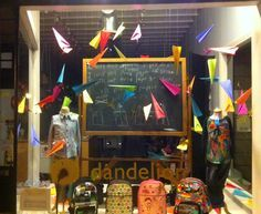 Back to school window display