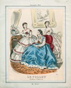 In the Swan's Shadow: Le Follet, December 1864.  Civil War Era Fashion Plate