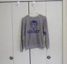 vintage 1980s tri blend gray sweatshirt by thriftyoutfitters, $10.00