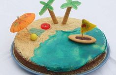 L'île paradisiaque 3rd Birthday, Happy Birthday, Birthday Parties, Wave Cake, Pirate Party, Cake Cookies, Cooking Time, Cake Decorating, Favors