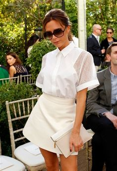 Victoria Beckham white on white trend!