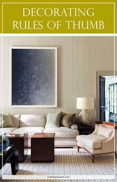 Most people think of interior design in terms of color, shape, pattern, and texture. But just as critical are proportion and placement. The long and short of it? Put a too-small rug in a room and, no matter how perfectly it coordinates color-wise, it'll look awkward. So what is the right-size rug for your room? How high should you mount your favorite painting? And how low should your chandelier hang? We show you how to implement a plan that really measures up, room by room.