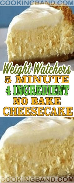 5 Minute 4 ingredients No Bake Cheesecake – Cooking Band Desserts Keto, No Bake Desserts, Delicious Desserts, Dessert Recipes, Yummy Food, Ww Recipes, Skinny Recipes, Cooking Recipes, Diabetic Recipes