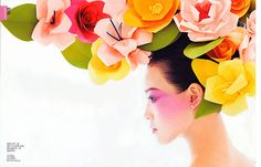 Paper flowers by Eloise Corr Danch in Vogue China
