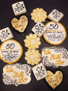 50th Anniversary cookies by icakepops