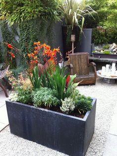 Patio plants in pots ideas patio flower pots outdoor flower planters patio planters and pots ideas . patio plants in pots Large Outdoor Planters, Patio Planters, Planter Pots, Concrete Planters, Metal Planter Boxes, Trough Planters, Stone Planters, Backyard Plants, Flower Planters
