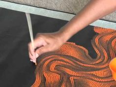 Aboriginal Artist Fabrianne Peterson Nampitjinpa 0898 ... this painting is done with only one color and is made completely with dots! fascinating!