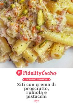 Ziti con crema di prosciutto, robiola e pistacchi Pasta Recipes, Salad Recipes, Cooking Recipes, Caesar Pasta Salads, Caesar Salad, Weird Food, I Love Food, Summer Recipes, Food Dishes
