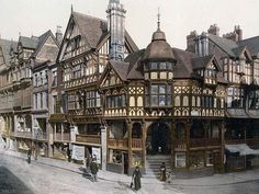 """One of the coolest places I visited in England, Chester.  It still looks pretty much like this.  Also, was fortunate enough to be there the day """"Order of the Phoenix"""" was released."""