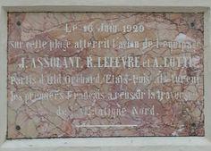 Traces des aviateurs Assolant, Lefevre et Lotti, premiers Français à avoir traversé l'Atlantique. USA à Mimizan