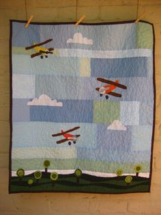 Fly Away baby quilt.