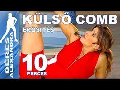 Béres Alexandra torna || Külső comb erősítés || 10 perc - YouTube Workout Guide, Zumba, Pilates, Gym, Health, Sports, Youtube, Pop Pilates, Hs Sports