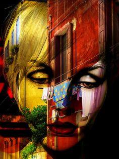 'Looking+at+italian+laundry'+von+Gabi+Hampe+bei+artflakes.com+als+Poster+oder+Kunstdruck+$23.56